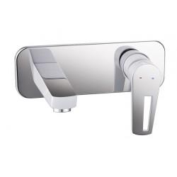 BRECLAV VR-05245W смеситель настенный для раковины, хром/белый, IMPRESE