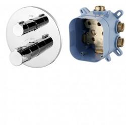 CENTRUM VRB-15400Z смеситель для ванны, термостат, скрытый монтаж (1 потребитель), форма R, IMPRESE