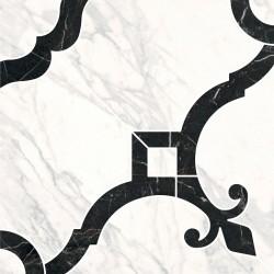 Декор ID88 ФРАГОНАР БЕЛЫЙ наборной (300x300), KERAMA MARAZZI