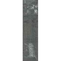 Декор DD701000RD АБЕТЕ СЕРЫЙ ТЕМНЫЙ обрезной (200x800), KERAMA MARAZZI