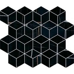 Декор T017\14026 ГРЕППИ ЧЕРНЫЙ мозаичный (400x375), KERAMA MARAZZI