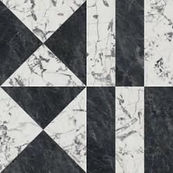 Плитка SG013302R БЬЯНКО НЕРО ЧЕРНЫЙ БЕЛЫЙ лаппатированный обрезной (1195x1195), KERAMA MARAZZI