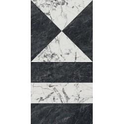 Плитка SG565402R БЬЯНКО НЕРО ЧЕРНЫЙ БЕЛЫЙ лаппатированный обрезной (600x1195), KERAMA MARAZZI