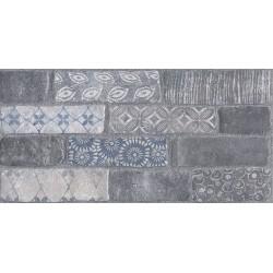 Плитка SG250900R КАМПАЛТО СЕРЫЙ декорированный обрезной (300x600), KERAMA MARAZZI