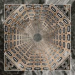 Декор SG013402R_D АРКАТА СЕРЫЙ ТЕМНЫЙ лаппатированный (1195x1195), KERAMA MARAZZI